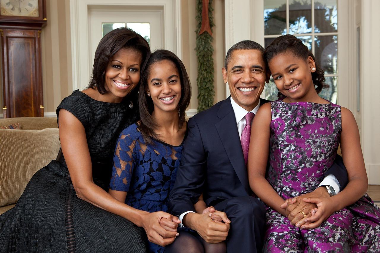 Michelle Obama i jej rodzina